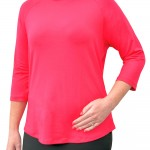 Women's Loose Fitting, Raglan Style Shirt - Perfect 'Basic' for your Wardrobe