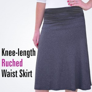 ruched waist skirt 1464 with text1
