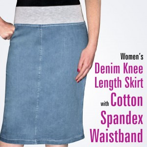 spandex waist skirt 1490 with text