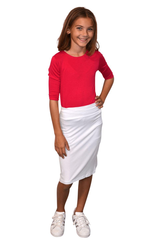 Pencil Skirt Black for Girls. Long Skirts. Kosher Casual.