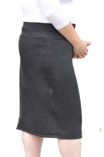 0ffb017050 Women's Straight Knee Length Denim Skirt with Stretch Waistband Plus Size # 1490
