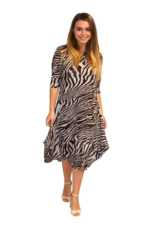 Beige Zebra Print