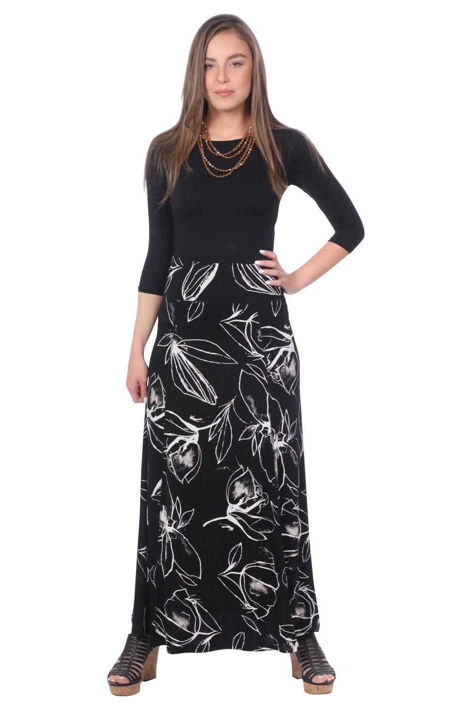 Black with White Print