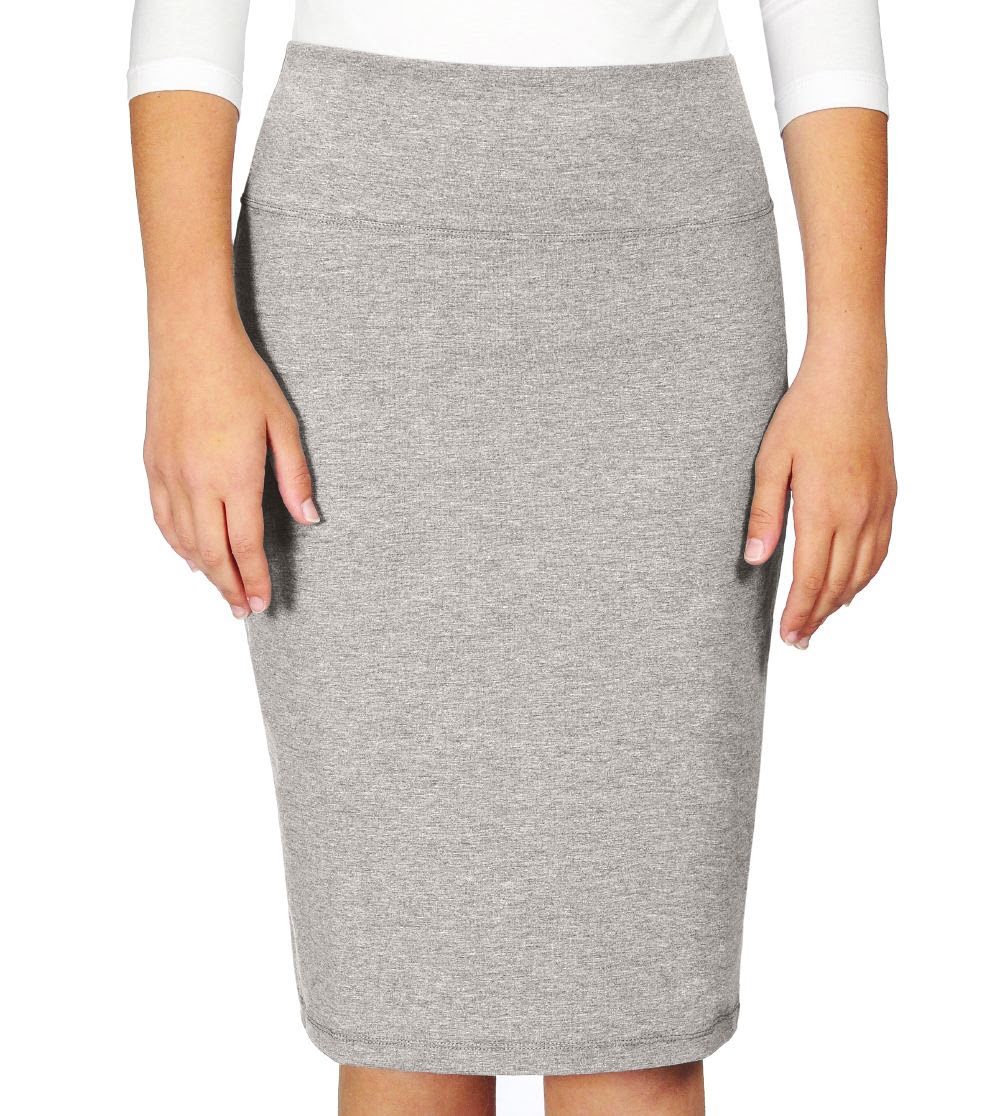 Stretch Pencil Skirt for Girls in Cotton Spandex