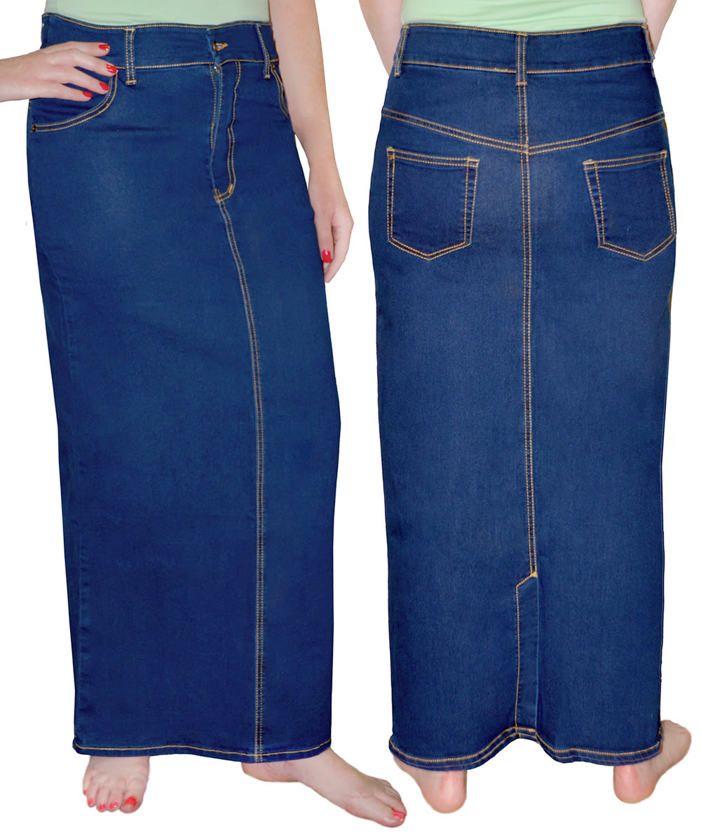 e1161b1ec6d Long Denim Skirts for Women - Womens Long Jean Skirts