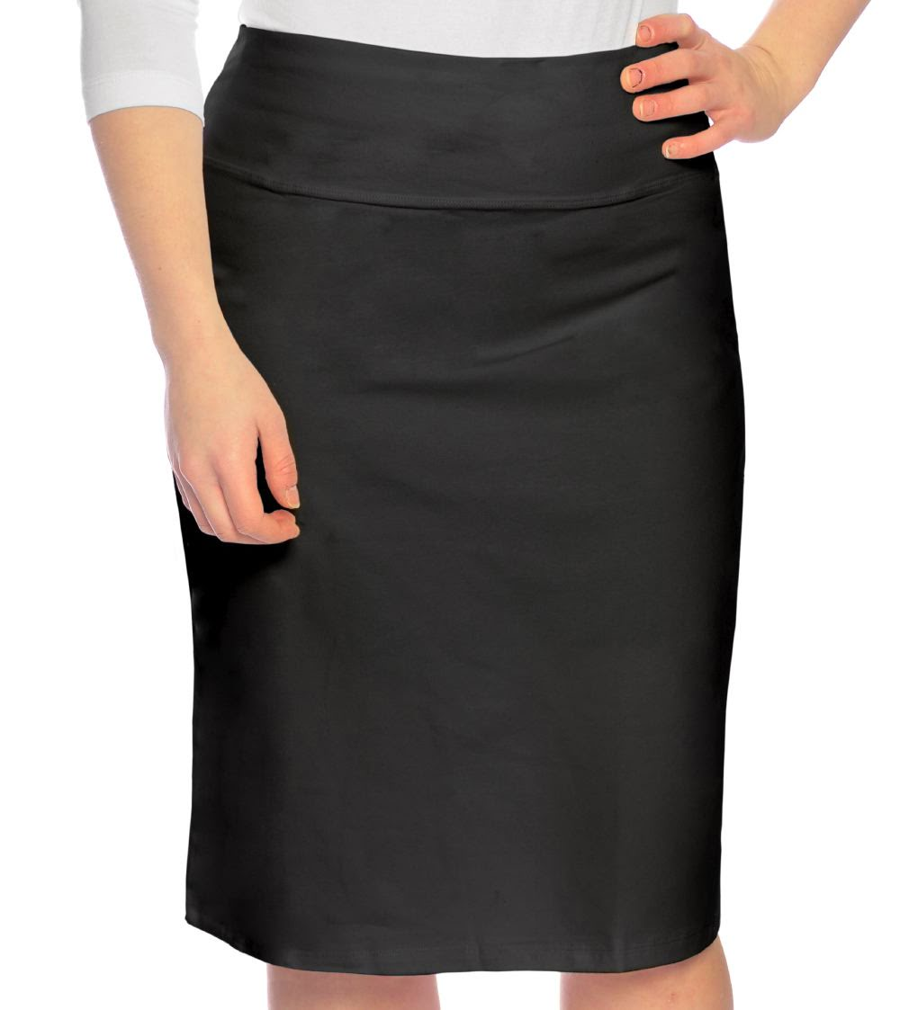 Stretch Pencil Skirt for Women in Cotton Spandex