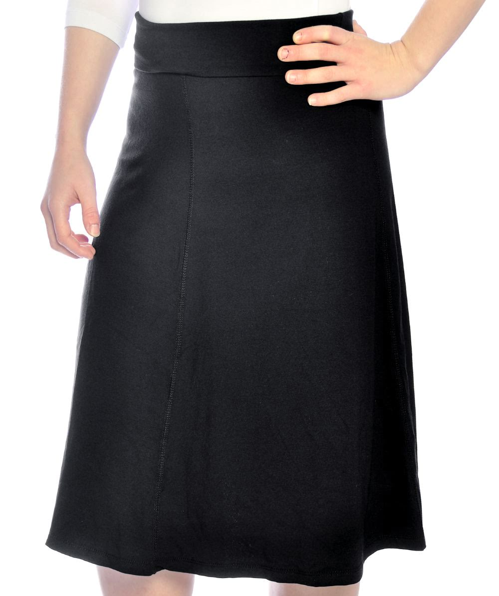 s a line skirt knee length viscose spandex with