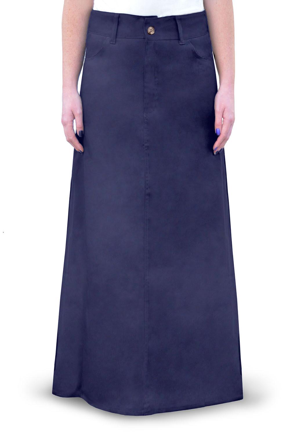 Kosher Casual Womenu0026#39;s Modest Long Cotton Twill Skirt | eBay