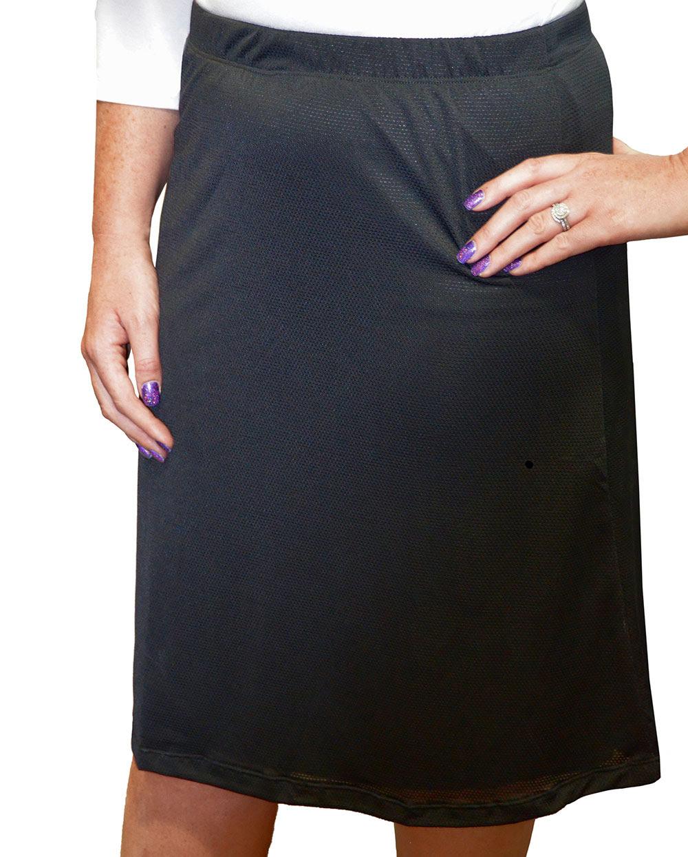 Mesh Running Skirt A-line for Girls. Long Skirts. Kosher Casual.