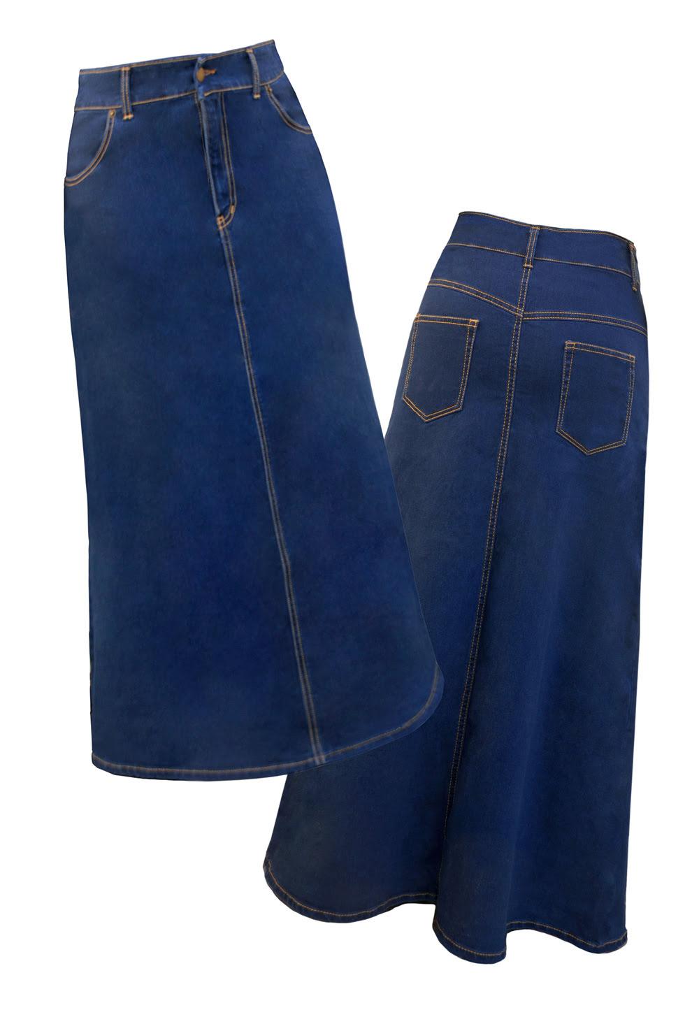Long Denim Skirts for Women - Womens Long Jean Skirts