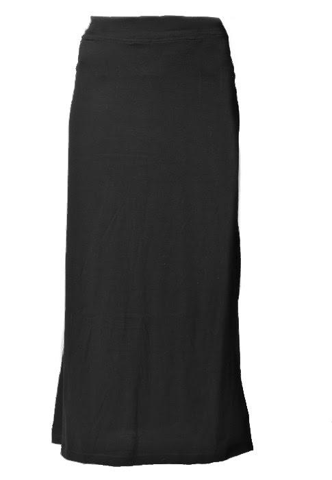 Long Black Cotton Skirt 62