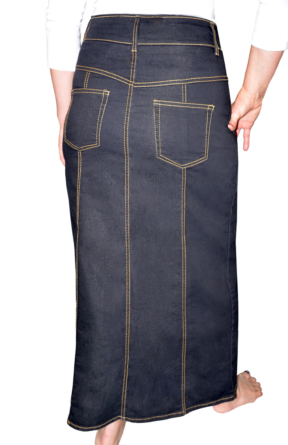 f08fffb99ea Kosher Casual Kids Big Girls  Modest Long Jean Skirt with .