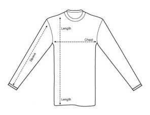 shirt measurement diagram