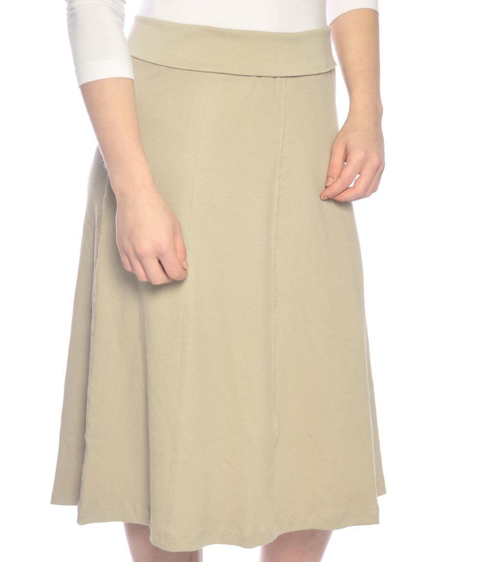 Panel Girl S Skirt Knee Length With Foldover Waist
