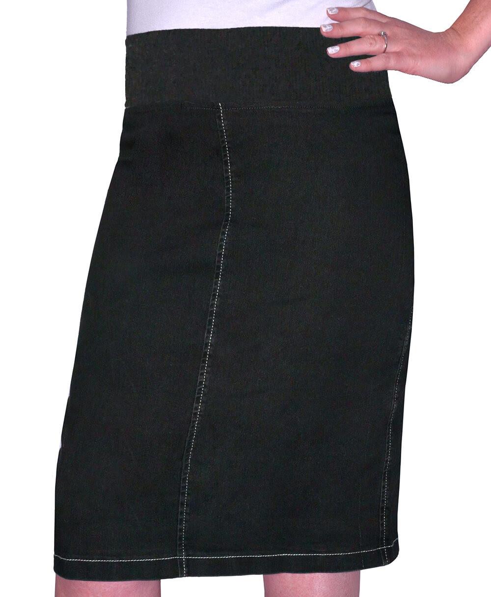 1490 Girls Straight Knee Length Denim Skirt