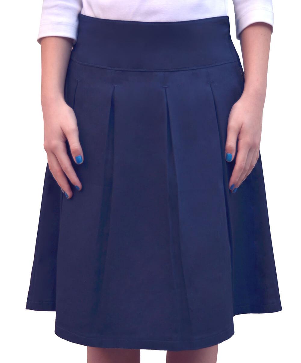 knee length classic school skirt kosher casual
