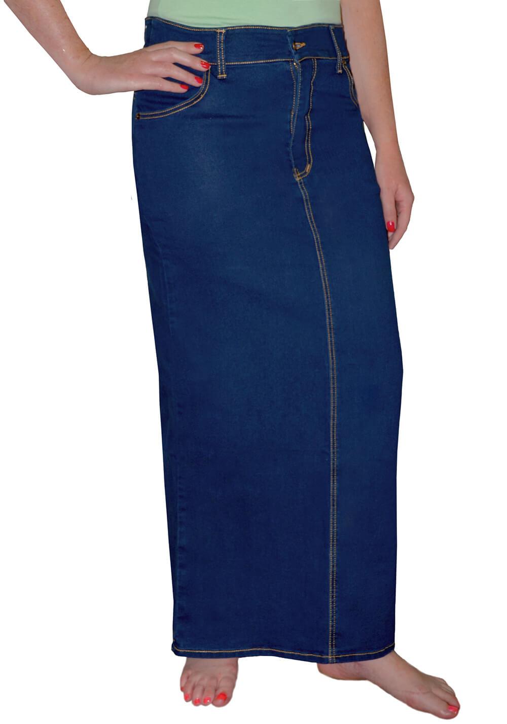 4786eafdbd Long Denim Skirts for Women - Womens Long Jean Skirts