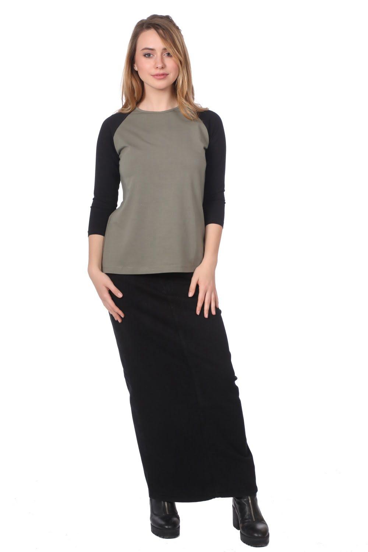10db17e21 1294. 3/4 Sleeve Raglan Cotton Lycra T Shirt for Women