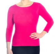 Women's 3/4 Sleeve Layering Top - Modest Boat-neck Opening