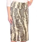 Animal Print Pencil Skirt #1422