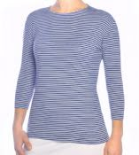 Striped Shirt for Women 3/4 Sleeve