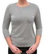 Mini-Striped Shirt for Women 3/4 Sleeve