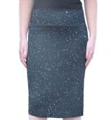 Women's Stretchy Pencil Skirt with Splash Print
