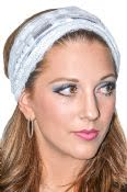 Women's Sequined Lace Tichel Head Band With Ties