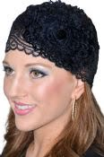 Women's Stretch Lace Tichel Headband With Flower Decoration
