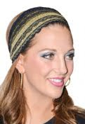 Women's Lace Tichel Head Wrap With Sequin Applique