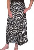 Maxi Skirt with Dramatic Drape