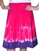 Tie-Dyed Skater Skirt for Women