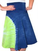 Tie-Dyed Skater Skirt for Women