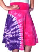 Tie-Dyed Skater Skirt for Girls