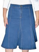 Women's Denim Skirt with Flared Bottom - New Fabric and Revised Sizing