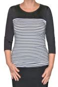 3/4 Sleeve Striped Shirt for Women