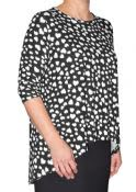High Low Printed 3/4 Sleeve Tunic