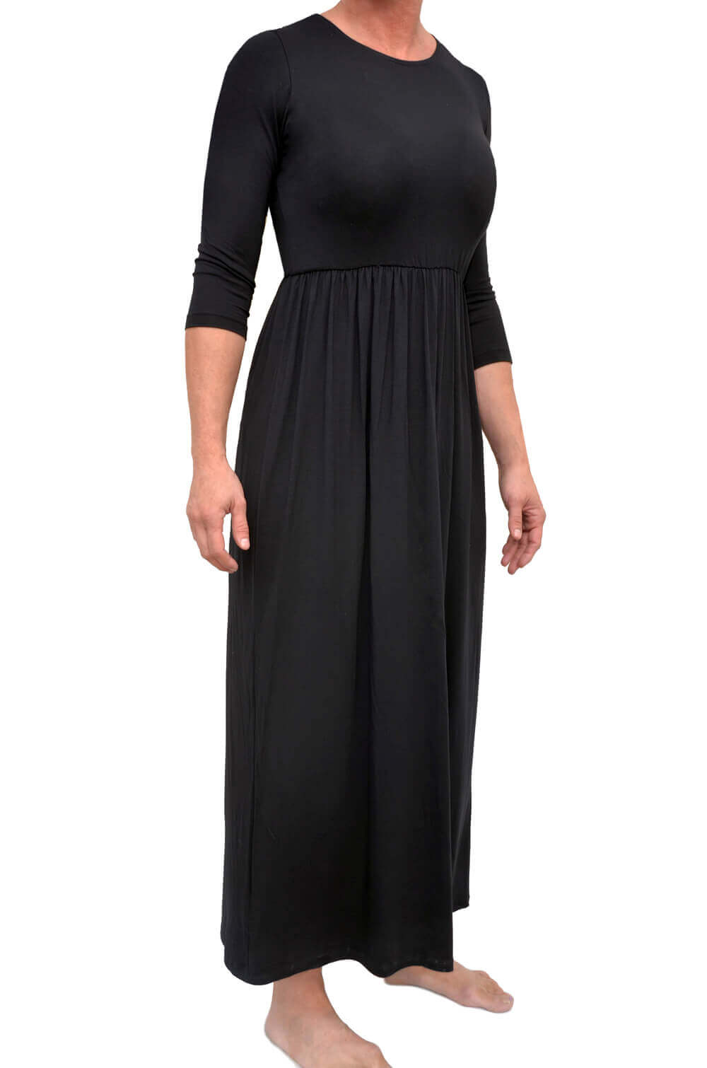 Women's Maxi Dress with Elastic Waistband
