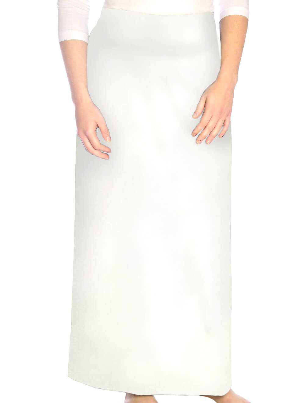 Long Dressy White Straight Skirt for Women
